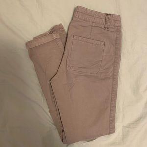 Anthropologie khaki skinny pants